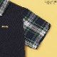 チェック切り替えポロシャツ 100 110 120 130cm(8133-5402)