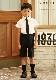 男の子フォーマル2点セット 半袖シャツ・ハーフパンツ 100 110 120 130cm(8833-5401-set)
