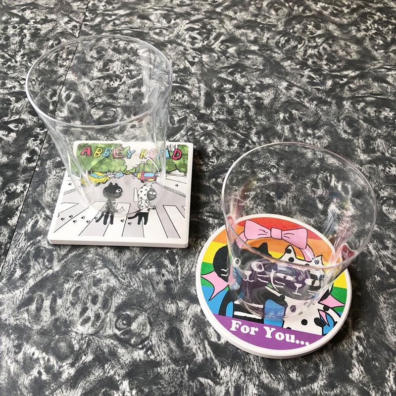 【オンライン限定商品】カラフルキャッツフレンズギンザスタイルコースター