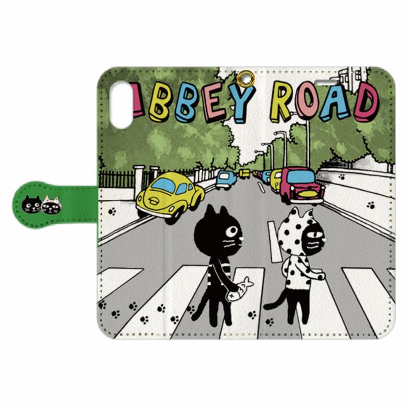 【オンライン限定商品】CatsFriendsRoad手帳型スマホケース