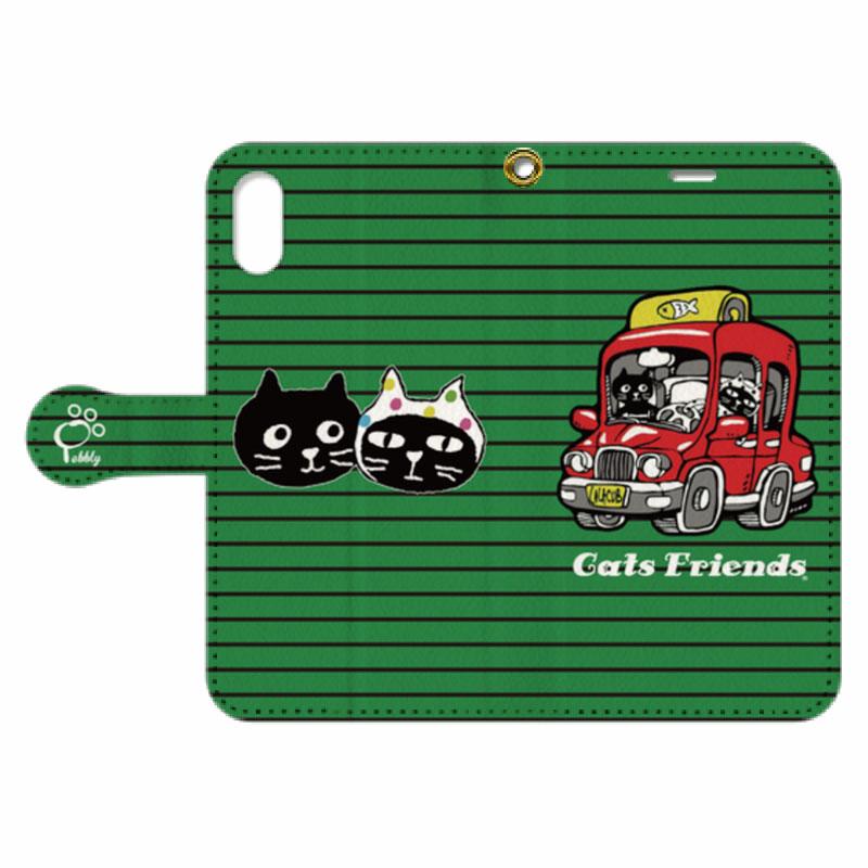 【オンライン限定商品】Cats in the Car手帳型スマホケース