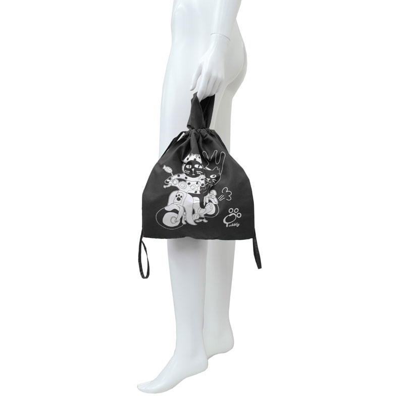 【オンライン限定商品】キャッツフレンズバイクショッピングバッグ(巾着)