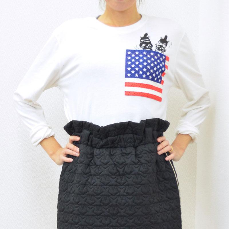 Me&YoフラッグポケットロングTシャツ