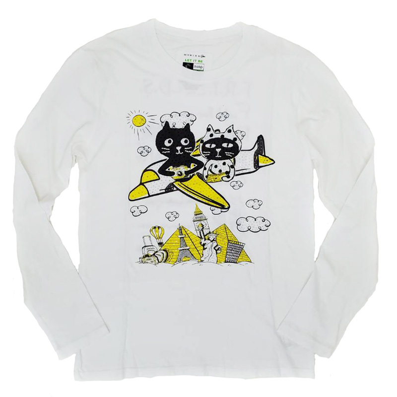 【SALE】【1000円OFF】Me&YoワールドトラベルロングTシャツ