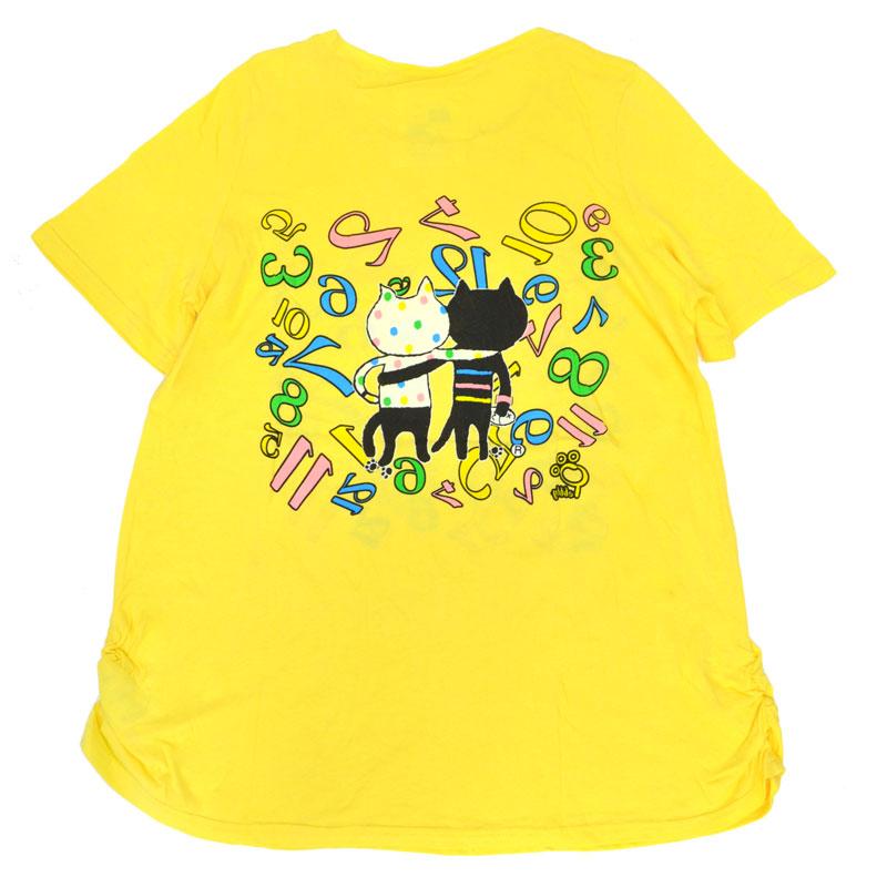 カラフルキャッツフレンズハッピーTシャツ