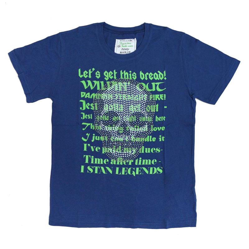 【SALE】【30%OFF】パールスカルメッセージTシャツ
