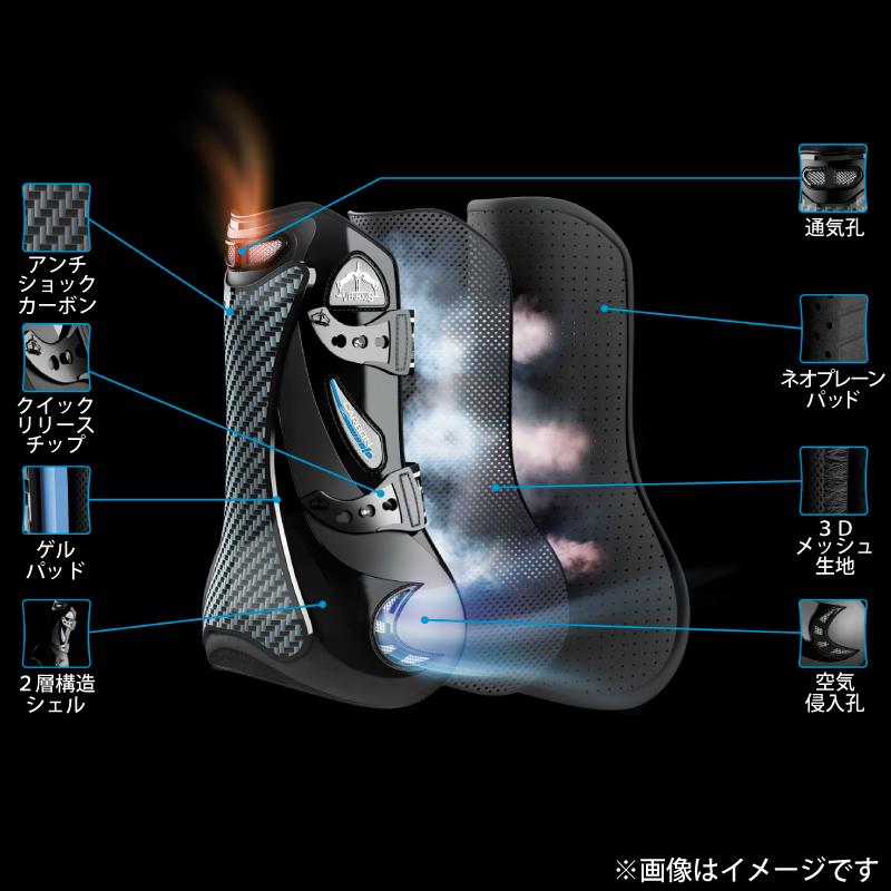 VEREDUS(ベルダス) カーボンゲルベント カラーエディション ブラック 前肢