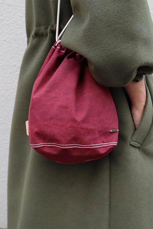 ワックスコットン巾着バック/CAVEZA ROSSO/カベサロッソ
