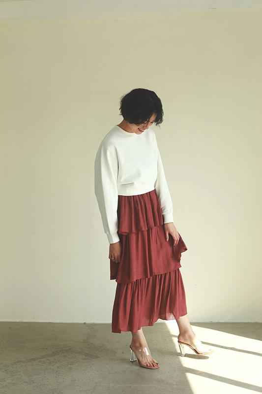 ティアードロングスカート/CAVEZA ROSSO/カベサロッソ