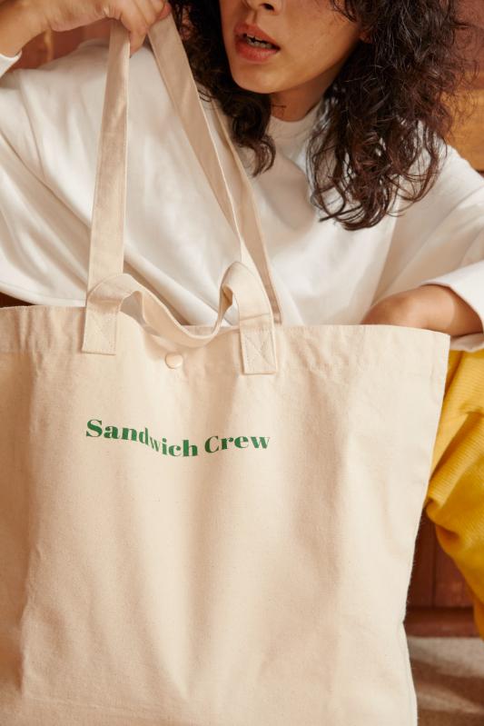 Sandwich Crew トートバック/CAVEZA ROSSO/カベサロッソ