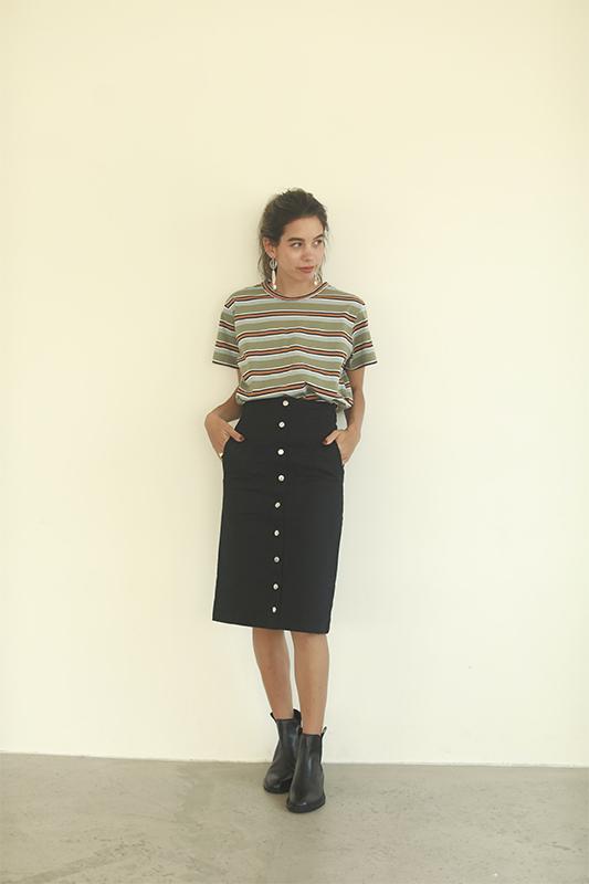 フロントボタンタイトスカート/CAVEZA ROSSO/カベサロッソ
