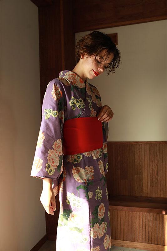 ヴィンテージカラー花柄浴衣/CAVEZA ROSSO/カベサロッソ