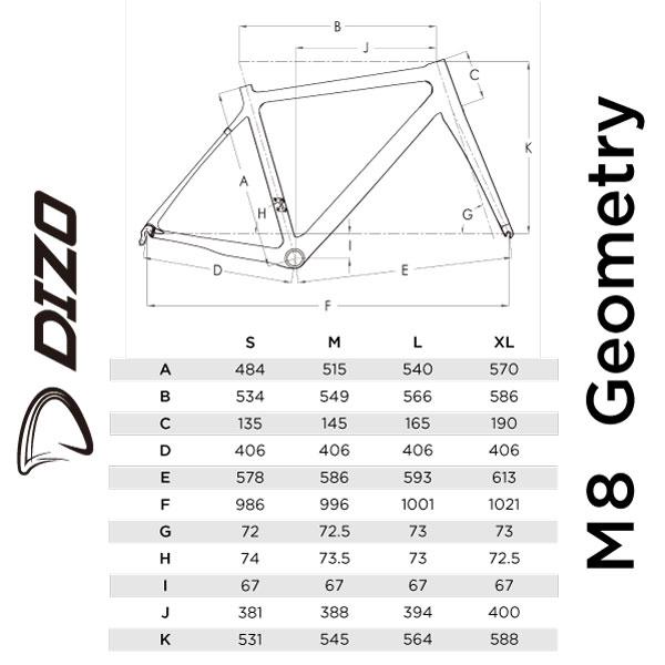 DIZO M8 2021年モデル【フレームのみ】