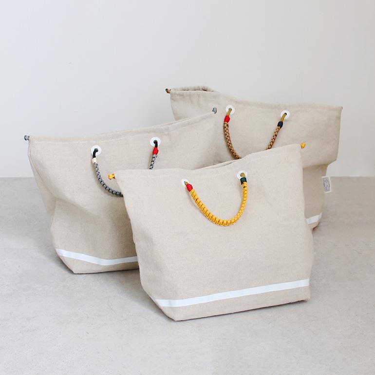 HAIDA ハイダ|HAIDA KNOT BAG LINEN L【全3色】