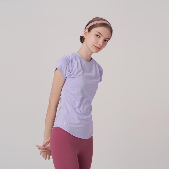 ライトパープル コンパクト Tシャツ