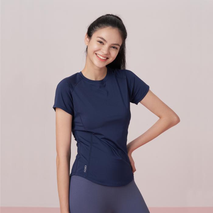 ネイビー  コンパクト Tシャツ