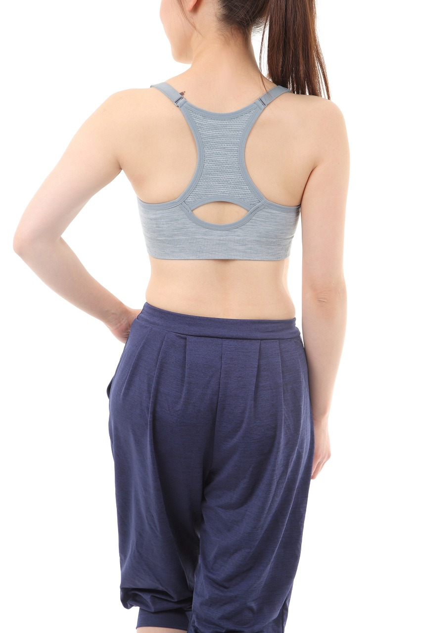 【ALL FOR COLOR】easy&fit bra フィットネスブラ グレー