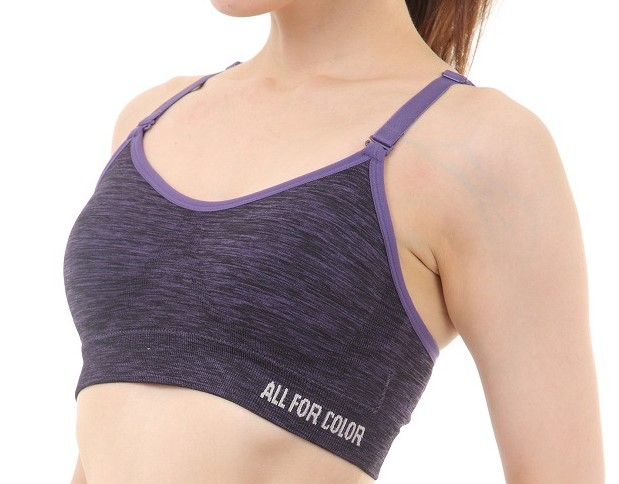 【ALL FOR COLOR】easy&fit bra フィットネスブラ パープル