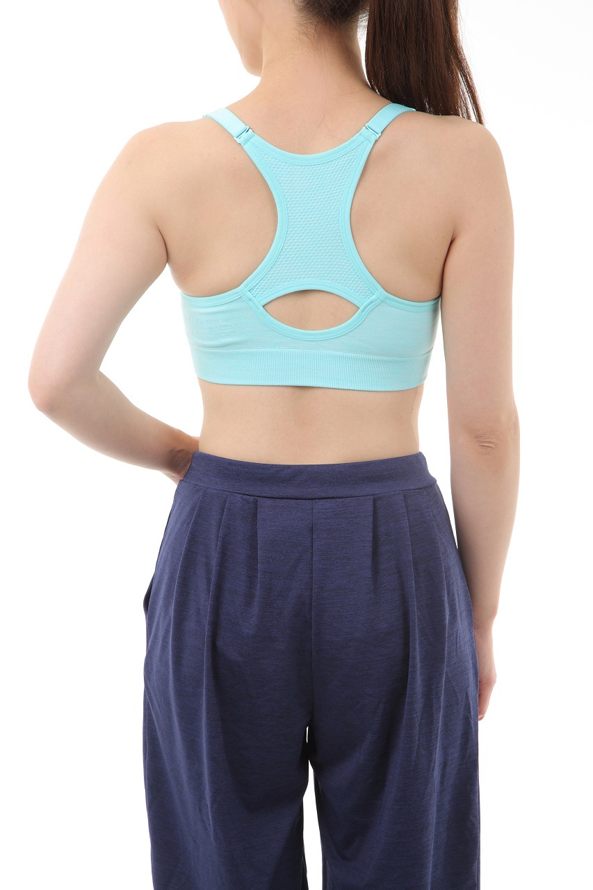 【ALL FOR COLOR】easy&fit bra フィットネスブラ ターコイズ