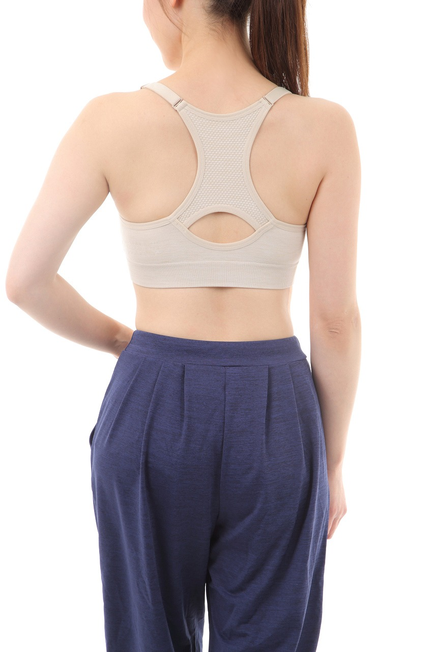 【ALL FOR COLOR】easy&fit bra フィットネスブラ アイボリー