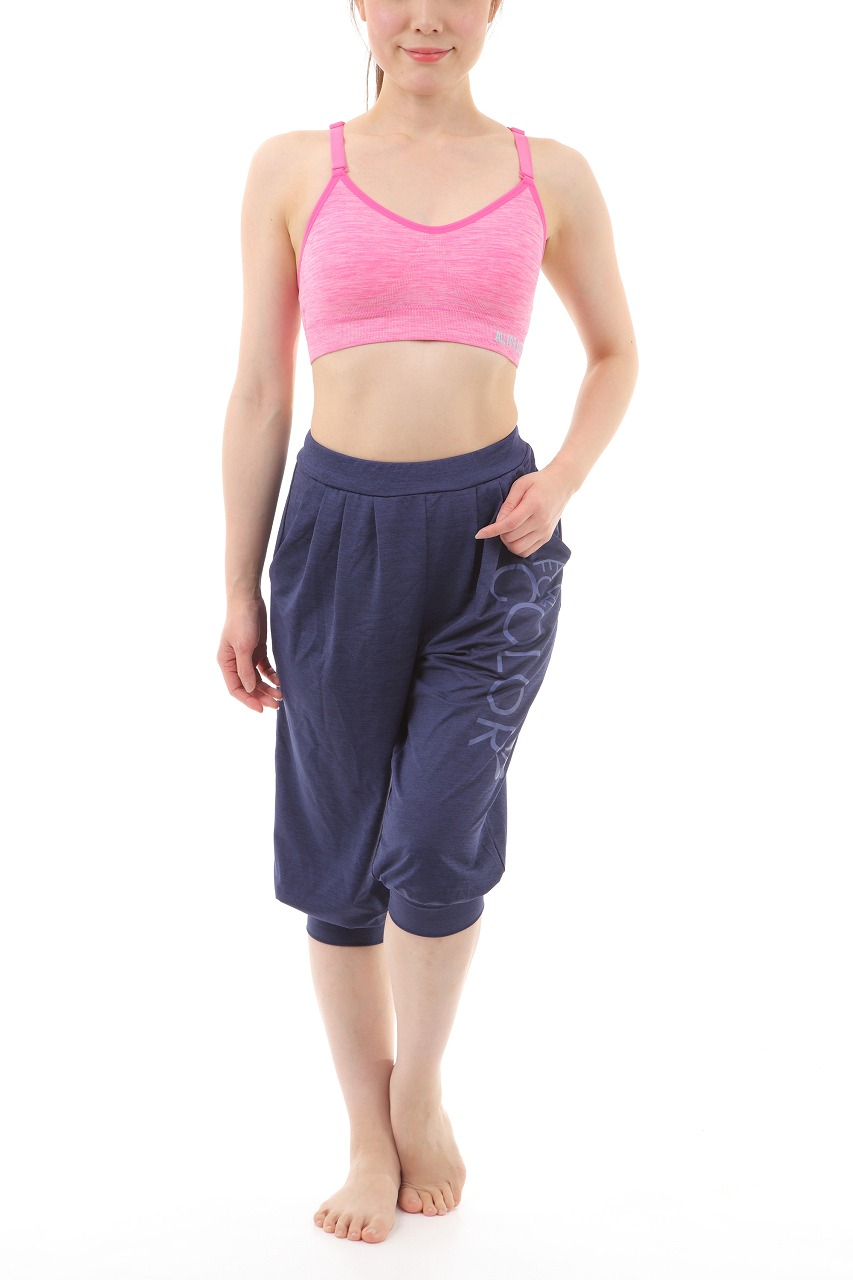 【ALL FOR COLOR】easy&fit bra フィットネスブラ ピンク