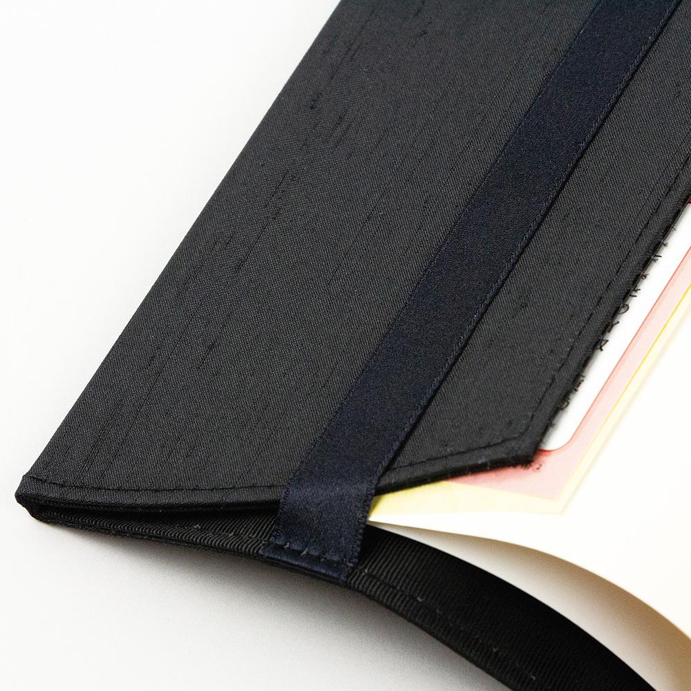 エンブロイダリー(刺繍)ブックカバー ト音記号/ヘ音記号