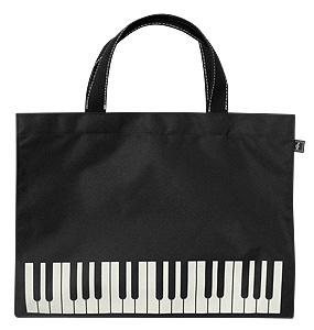 レッスンバッグ オブロング鍵盤ブラック