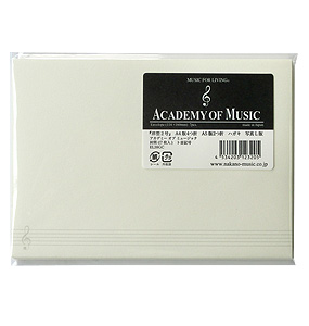 封筒(7枚入)/ト音記号ACADEMY OF MUSIC