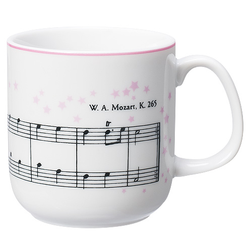 クラシカルマグカップスモールサイズキラキラ星変奏曲/ピンク