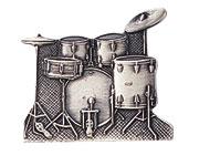 スタンダードブローチ/ドラムセット/シルバー