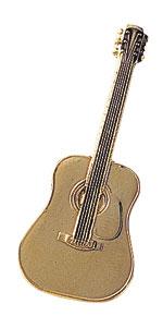 スタンダードブローチ/フォークギター/ゴールド
