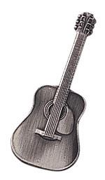 スタンダードブローチ/フォークギター/シルバー
