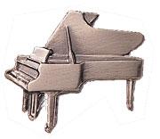 スタンダードブローチ/ピアノ/シルバー