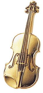 スタンダードブローチ/バイオリン/ゴールド