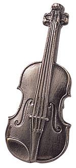 スタンダードブローチ/バイオリン/シルバー