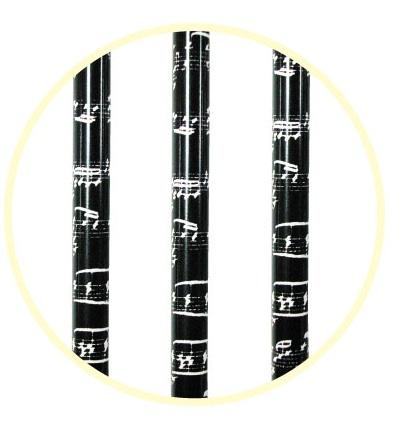 譜面鉛筆3本セット ブラック