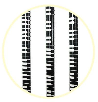 鍵盤鉛筆3本セット ブラック