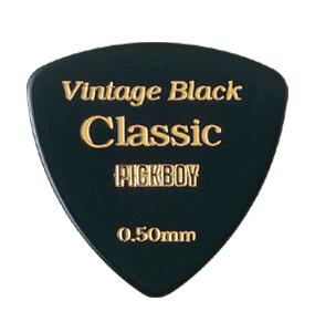 VINTAGE CLASSIC セルロイドピック トライアングル 色/カラー:ブラック 0.50mm~1.20mm 20枚入り