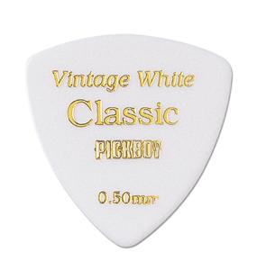 VINTAGE CLASSIC セルロイドピック トライアングル 色/カラー:ホワイト 0.50mm~1.20mm 20枚入り