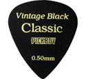 VINTAGE CLASSIC セルロイドピック ティアドロップ ブラック 0.50mm~1.20mm 20枚入り