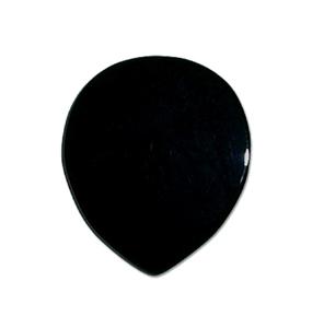 GUITAR PICK ストーンピック1枚入りオニキス天然石ピックラウンド型 色/カラー:ブラック