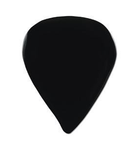 GUITARPICK ストーンピック1枚入りオニキス天然石ピックティアドロップ型片面フラット ブラック
