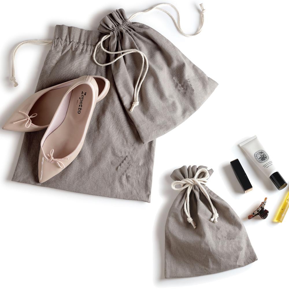 【わんこ刺しゅう+わんこの名前】 osanpo setagayaエンブロイダリー(刺繍)巾着  M/S