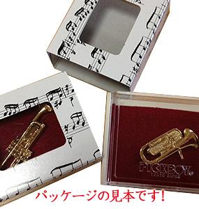 スタンダードブローチ/クラシックギター/ゴールド