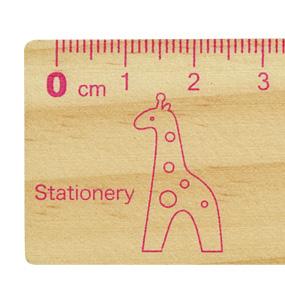 プレイポコ 木製定規15cm キリンPLAY POCO Series