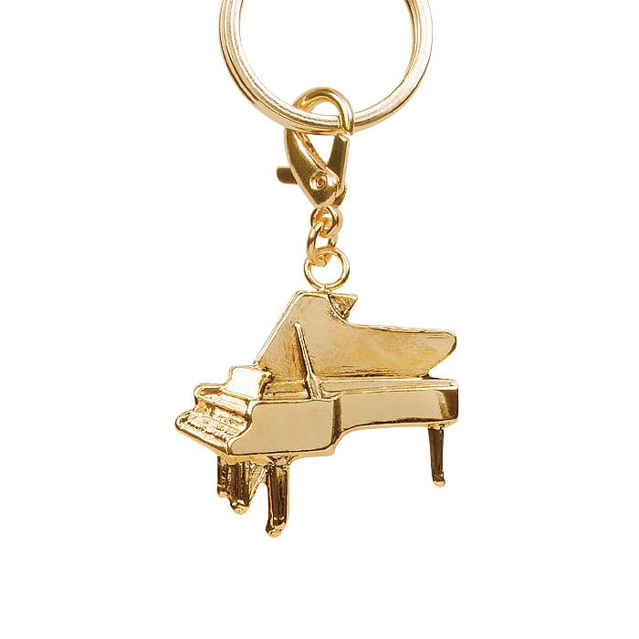 オールミュージックキーホルダー ゴールド ピアノ