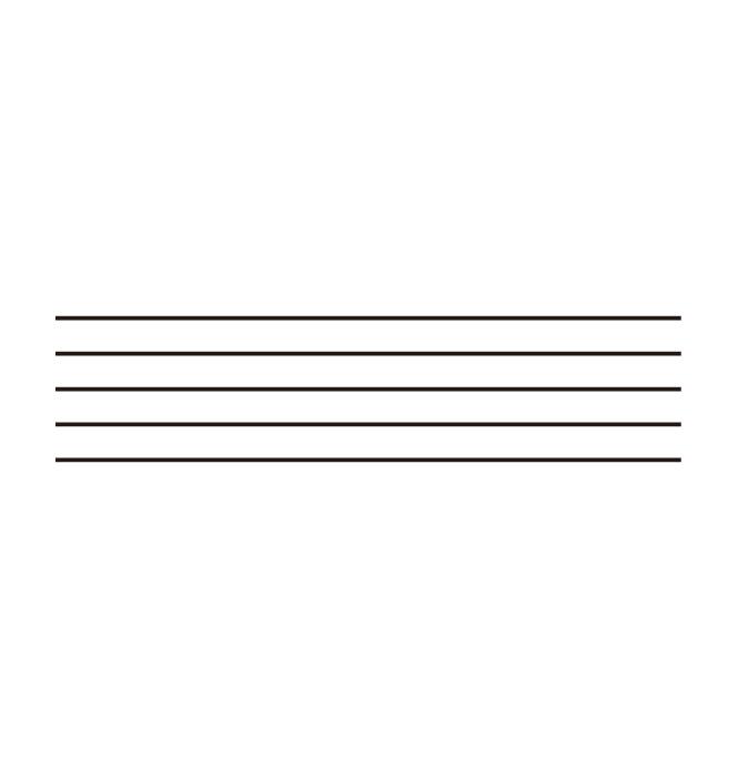 ミュージック レッスン スタンプ 五線 L