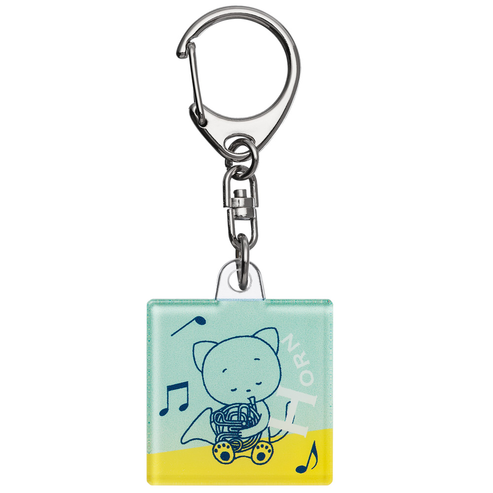 <支部大会限定>こまねこ スクエア型キーホルダー 2019 全日本吹奏楽コンクール朝日新聞記念グッズ