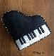 ピアノクッションSブラック