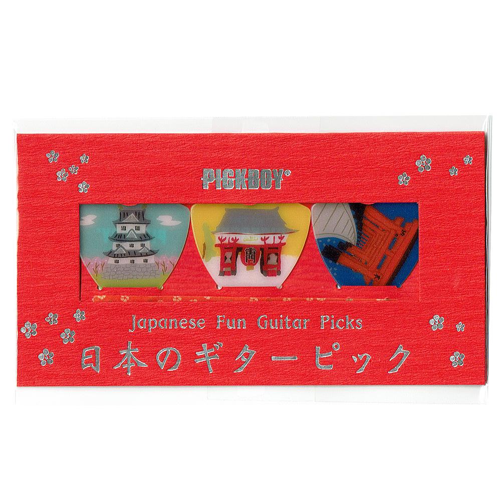 日本のギターピックギフトパック たてもの
